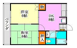 シティハイムアカツキ[201号室]の間取り