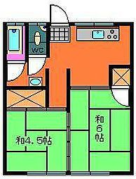山本アパート[203号室]の間取り