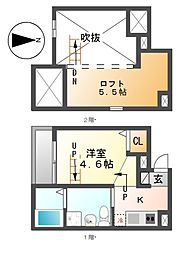 プランドールN[2階]の間取り