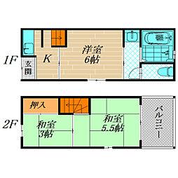 [一戸建] 大阪府大阪市旭区高殿7丁目 の賃貸【/】の間取り