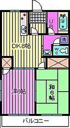 ラポールマンション[2階]の間取り