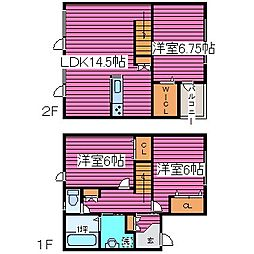 [タウンハウス] 北海道札幌市北区篠路一条2丁目 の賃貸【北海道 / 札幌市北区】の間取り