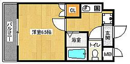 京都府京都市中京区柊町の賃貸マンションの間取り