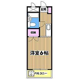 東京都羽村市羽加美1丁目の賃貸マンションの間取り