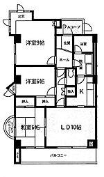 アパートメントバラヤマ[4階]の間取り