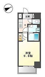 リバーコート砂田橋II[3階]の間取り