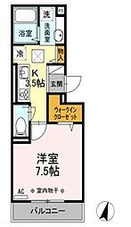 ポゥローニア湘南[3階]の間取り