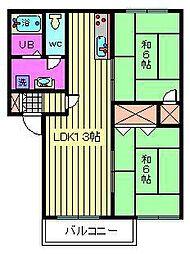 フレグランス大塚 A・B[B201号室]の間取り