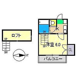 三園パレス[2階]の間取り