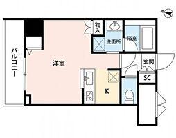 新潟県新潟市中央区米山3丁目の賃貸マンションの間取り