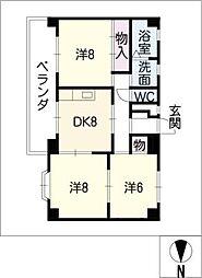 サンハイツ11[5階]の間取り