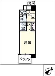 仮)乙輪町2丁目マンション[4階]の間取り