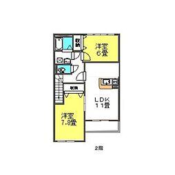 シャトー ボンヌール[2階]の間取り