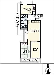 アーバンドエル猪高台[2階]の間取り