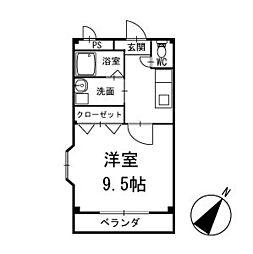 ライズ岡崎 2階[204号室]の間取り