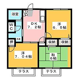 サニーコートC[2階]の間取り