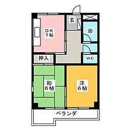 めぞん平成[3階]の間取り