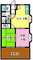 福岡県福岡市城南区樋井川2丁目の賃貸アパートの間取り