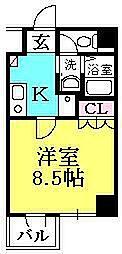 兵庫県西宮市馬場町の賃貸マンションの間取り