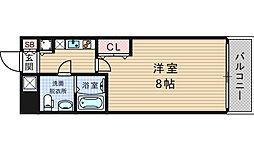 大阪府大阪市西区京町堀3丁目の賃貸マンションの間取り