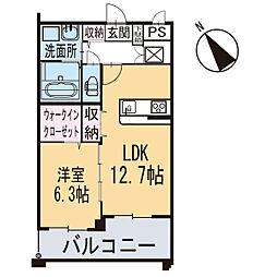 新築東大友町マンション[203号室]の間取り