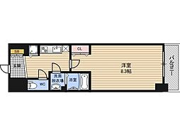 LEGESTA大阪レジデンス 6階1Kの間取り