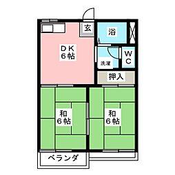 タウニィ大高台[1階]の間取り