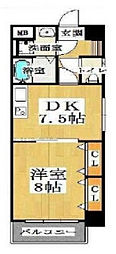 大阪府大阪市中央区南久宝寺町1丁目の賃貸マンションの間取り
