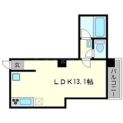 ケイハンシティセカンドビル[2階]の間取り