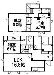 [一戸建] 北海道札幌市西区西野五条8丁目 の賃貸【/】の間取り