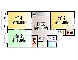 ロイヤルハイツ長井[101号室]の間取り