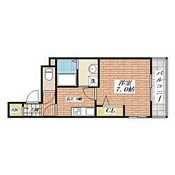 シャーメゾン別院[2階]の間取り