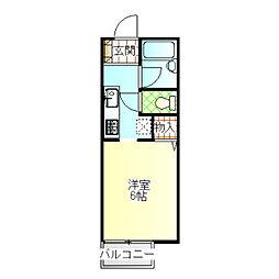 ジョイハウス3号棟[105号室]の間取り