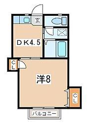 神奈川県横須賀市汐入町2丁目の賃貸アパートの間取り