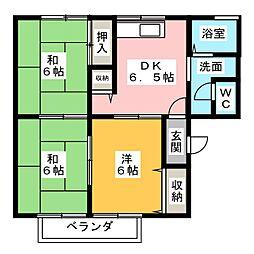 コーポシャトル[2階]の間取り