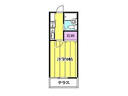 埼玉県北足立郡伊奈町小室の賃貸アパートの間取り
