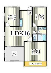 サンライズ柴崎[2階]の間取り