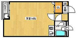 京都府京都市東山区西御門町の賃貸マンションの間取り