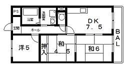 松岡マンション[306号室号室]の間取り