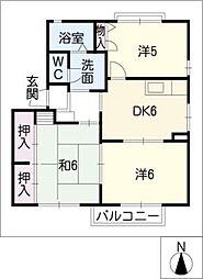 HALU HOUSE B[2階]の間取り
