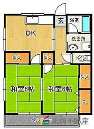 ホーム秋吉[2階]の間取り