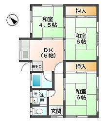 [一戸建] 滋賀県東近江市聖和町 の賃貸【/】の間取り