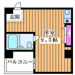 エスタイル塚本[305号室]の間取り