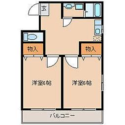ユーモ壱番館[2階]の間取り