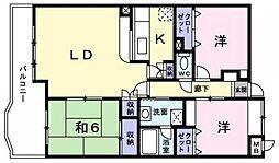 ロイヤルパークマンション[603号室]の間取り