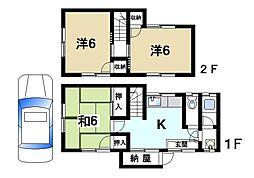 [テラスハウス] 奈良県奈良市尼辻南町 の賃貸【奈良県 / 奈良市】の間取り