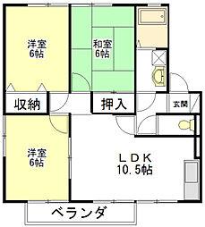 ファミーユ21 B[1階]の間取り