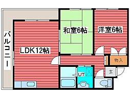 北山マンション[2階]の間取り