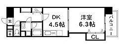 NLC木川[4階]の間取り
