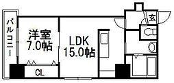 椿ガーデン[1階]の間取り